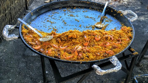 Ayo – our fav paella place on the beach in Nerja, Spain